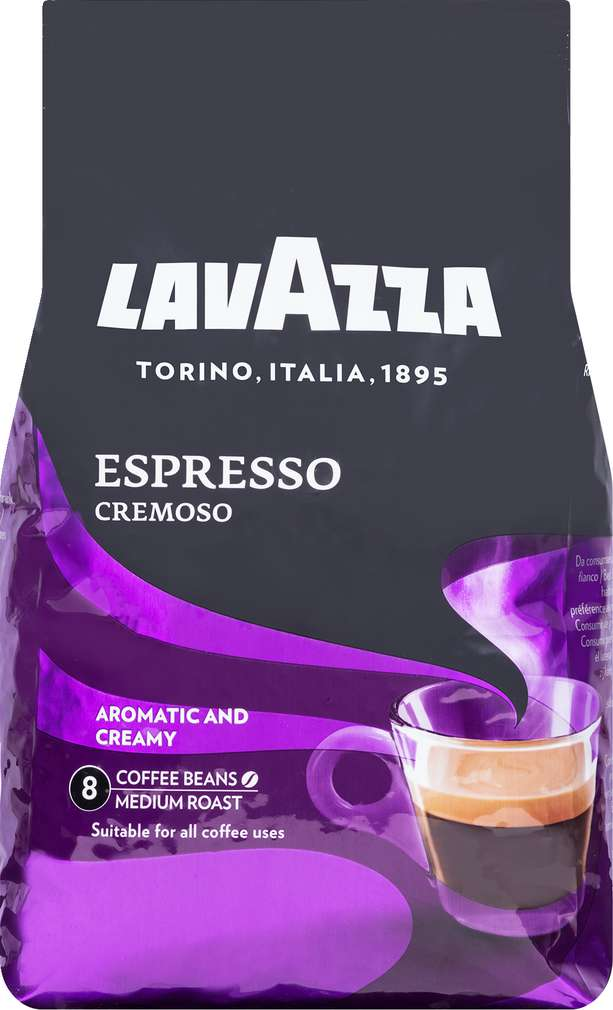 Abbildung des Sortimentsartikels Lavazza Espresso cremoso ganze Bohnen 1000g