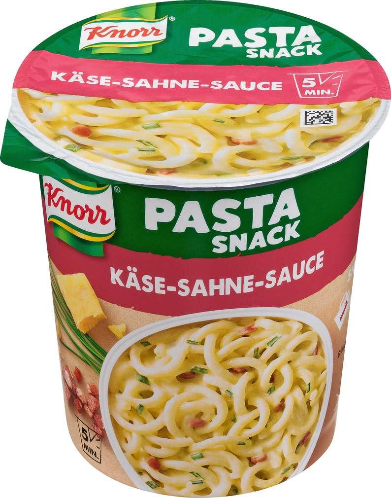 Abbildung des Sortimentsartikels Knorr Pasta Snack Spaghetti in Käse-Sahne-Sauce 71g