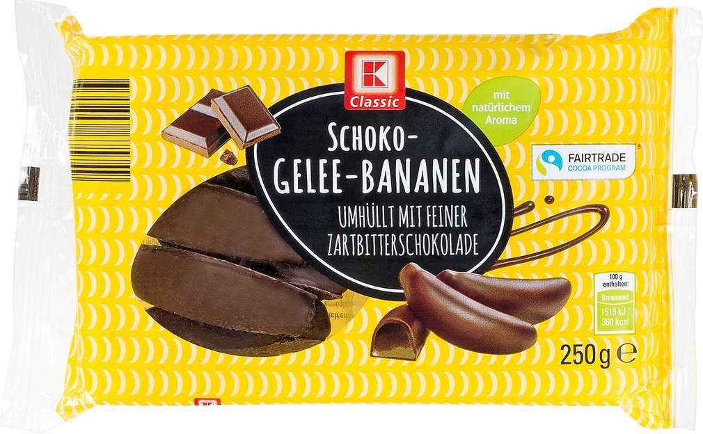 Abbildung des Sortimentsartikels K-Classic Schoko-Gelee-Bananen 250g