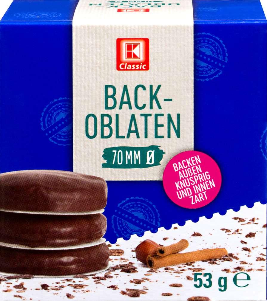 Abbildung des Sortimentsartikels K-Classic Back-Oblaten 70mm Ø 75 Stück