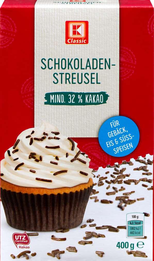 Abbildung des Sortimentsartikels K-Classic Schokoladen-Streusel 400g