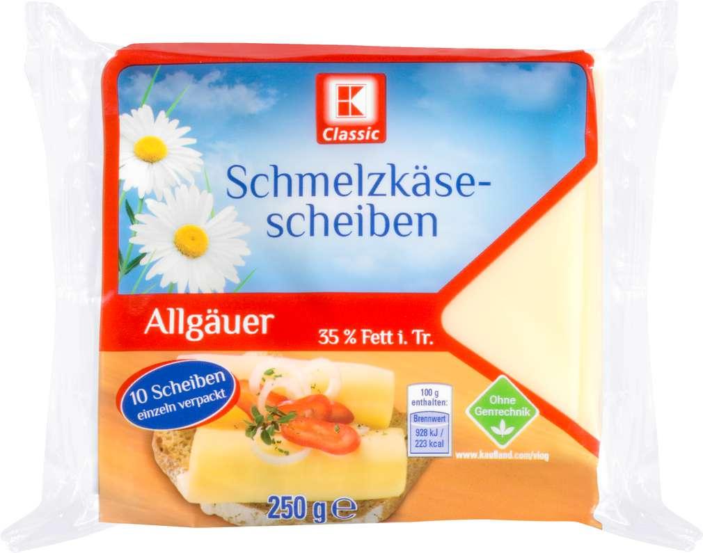 Abbildung des Sortimentsartikels K-Classic Schmelzkäsescheiben Allgäuer 250g
