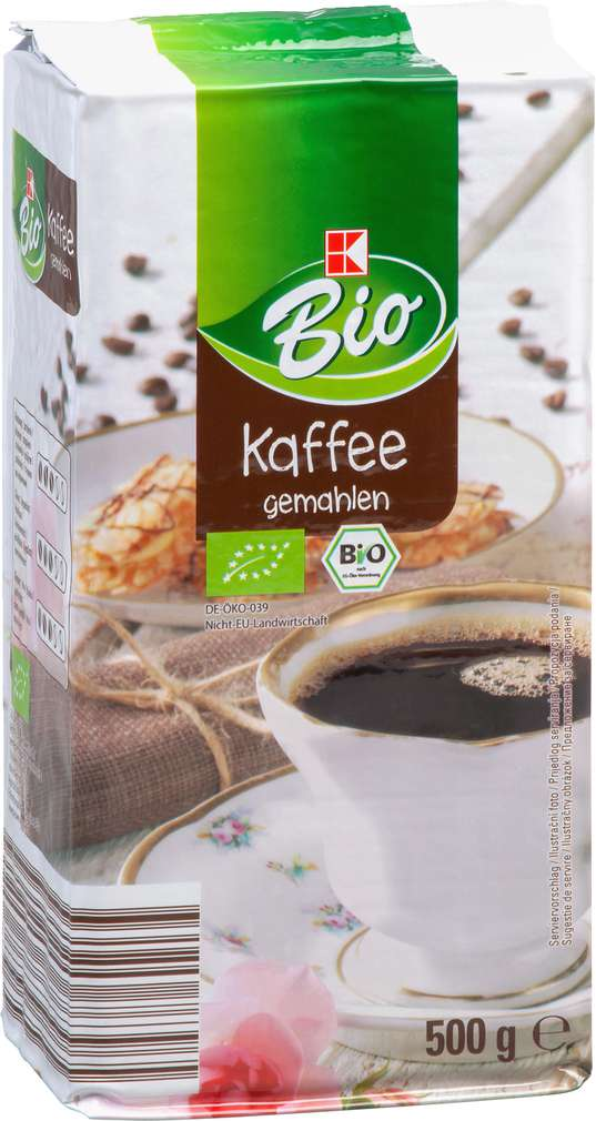 Abbildung des Sortimentsartikels K-Bio Kaffee gemahlen 500g