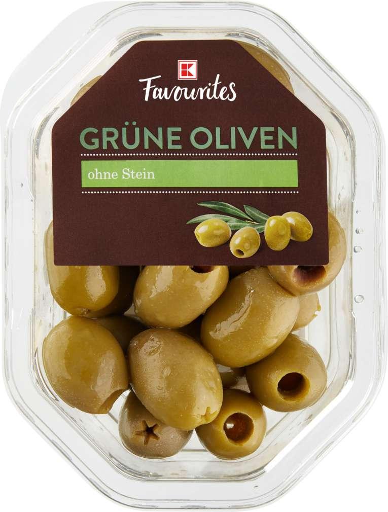 Abbildung des Sortimentsartikels K-Favourites grüne Oliven Natur 150g