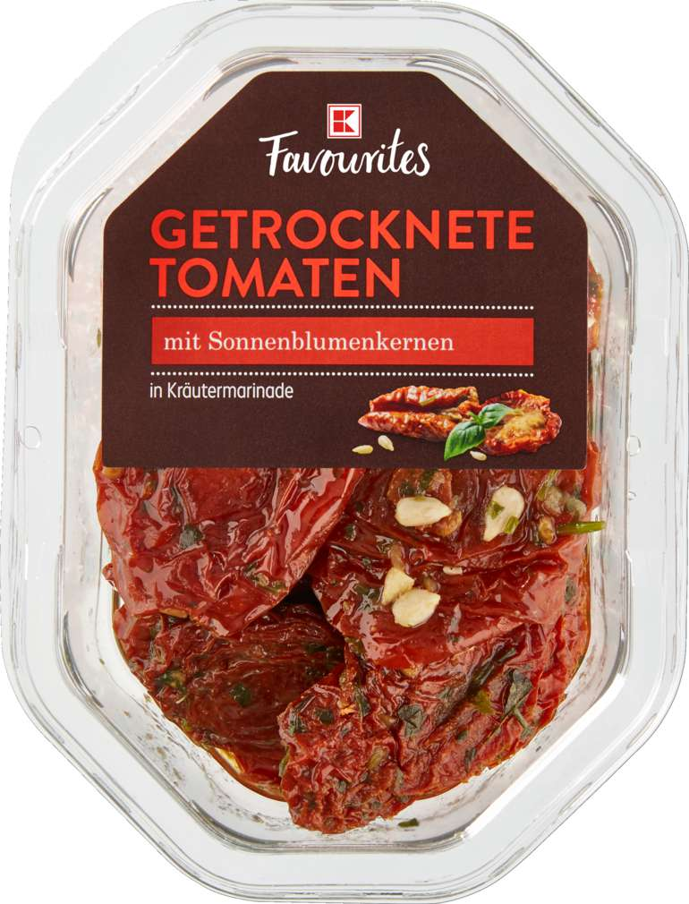 Abbildung des Sortimentsartikels K-Favourites getrocknete Tomaten mariniert 150g