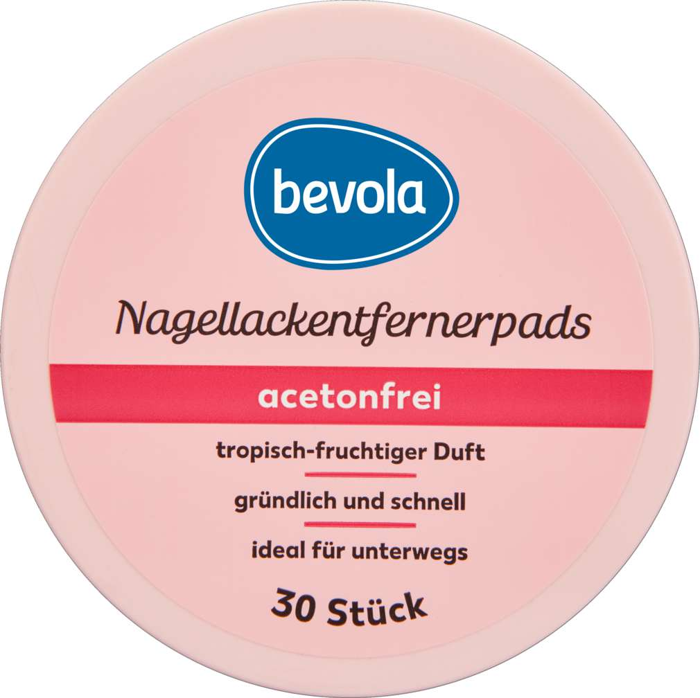 Abbildung des Sortimentsartikels Bevola Nagellackentferner Pads acetonfrei 30 Stück