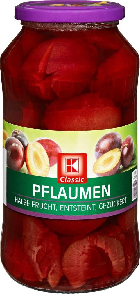Abbildung des Sortimentsartikels K-Classic Pflaumen 1/2 Frucht gezuckert 680g