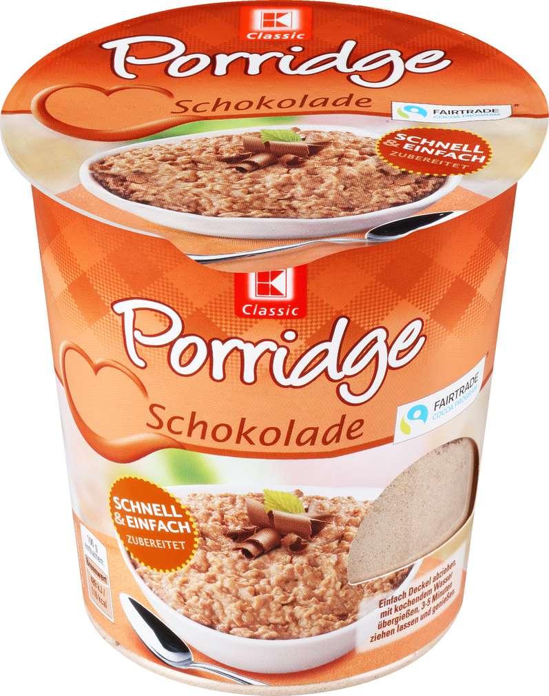 Abbildung des Sortimentsartikels K-Classic Porridge Schokolade 65g