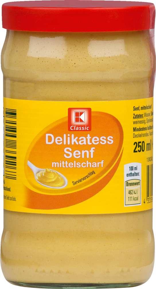 Abbildung des Sortimentsartikels K-Classic Delikatess Senf mittelscharf 250ml