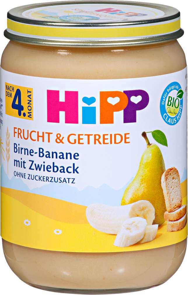 Abbildung des Sortimentsartikels Hipp Frucht & Getreide Birne-Banane mit Zwieback 190g