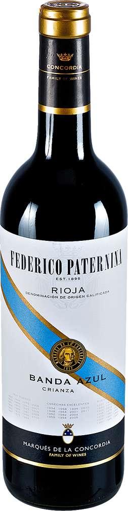 Abbildung des Sortimentsartikels Federico Paternina Rioja Banda Azul Crianza 0,75l