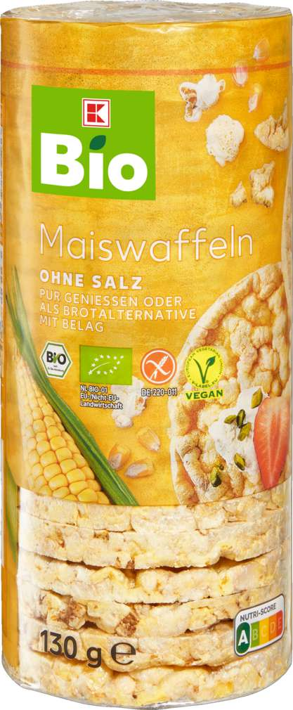 Abbildung des Sortimentsartikels K-Bio Maiswaffeln ohne Salz 130g