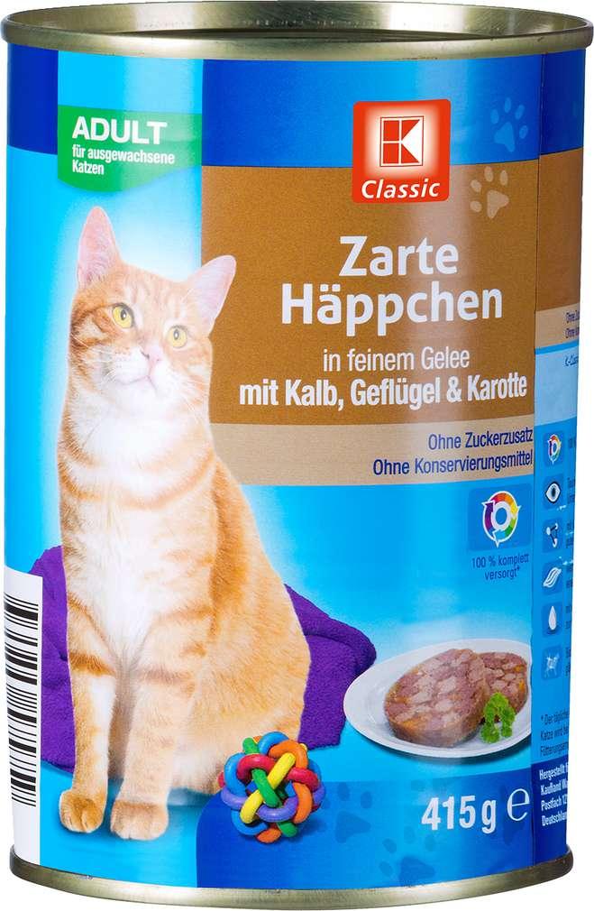 Abbildung des Sortimentsartikels K-Classic Zarte Häppchen mit Kalb, Geflügel & Karotte 415g