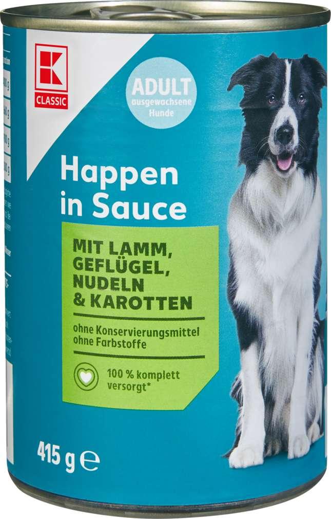 Abbildung des Sortimentsartikels K-Classic Hundenahrung Happen in Sauce Lamm und Geflügel 415g