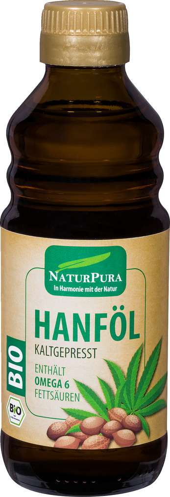 Abbildung des Sortimentsartikels NaturPura Bio-Hanföl kaltgepresst 250ml