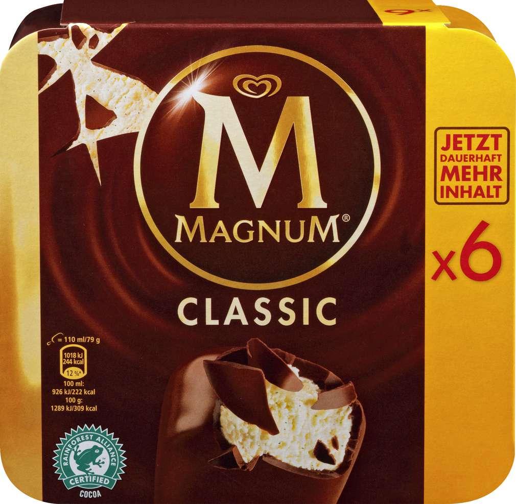 Abbildung des Sortimentsartikels Magnum Classic Eis 660ml, 6 Stück