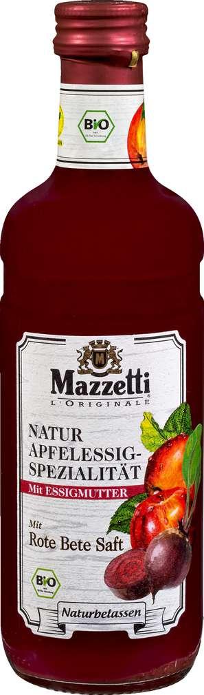 Abbildung des Sortimentsartikels Mazzetti Bio-Apfelessig mit Rote Bete-Saft 0,5l