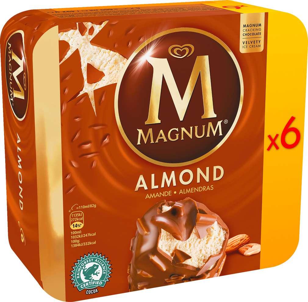 Abbildung des Sortimentsartikels Magnum Mandel Eis 660ml, 6 Stück