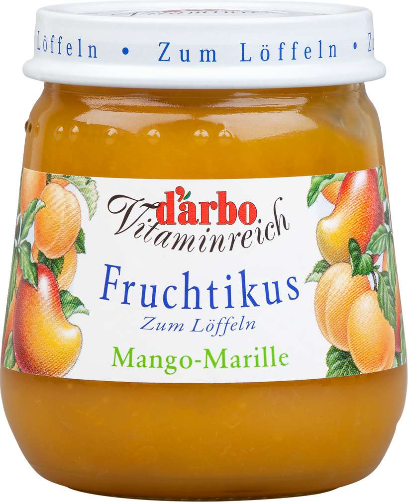 Abbildung des Sortimentsartikels D'arbo Fruchtikus Fruchtdessert Mango-Marille 125g