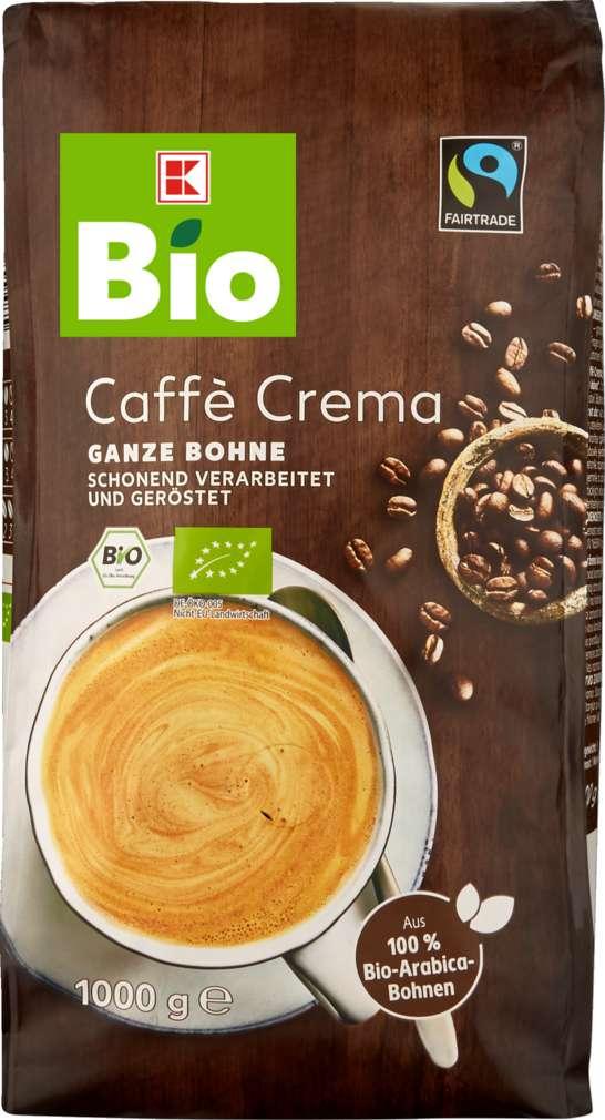 Abbildung des Sortimentsartikels K-Bio Bio-Kaffee Ganze Bohne Crema 1000g