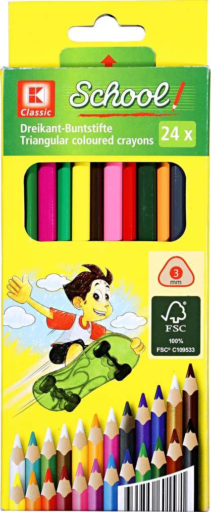 Abbildung des Sortimentsartikels K-Classic Dreikant-Buntstifte 24 Stück