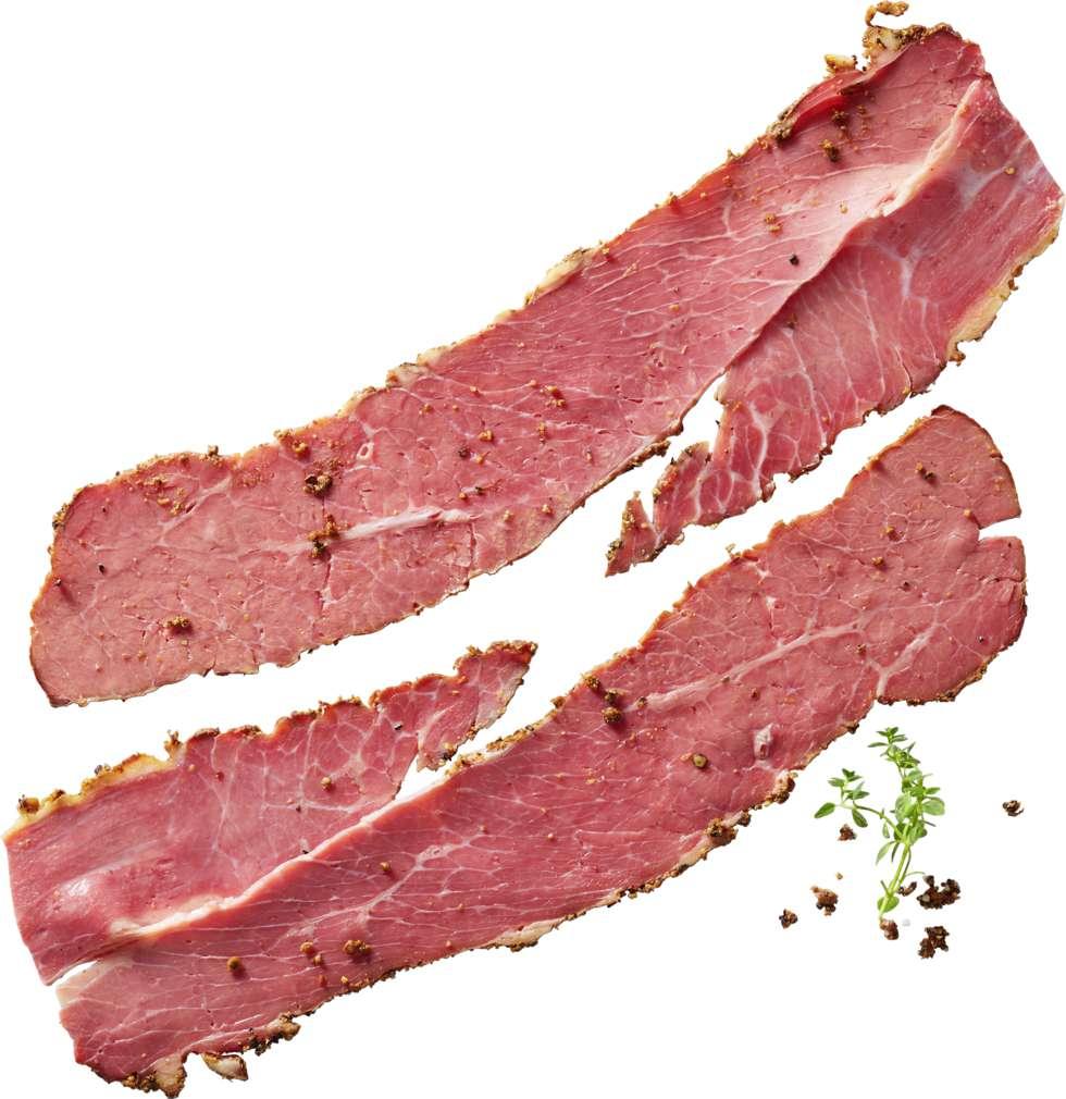 Abbildung des Sortimentsartikels Hein Pastrami Rinderbrust gewürzt