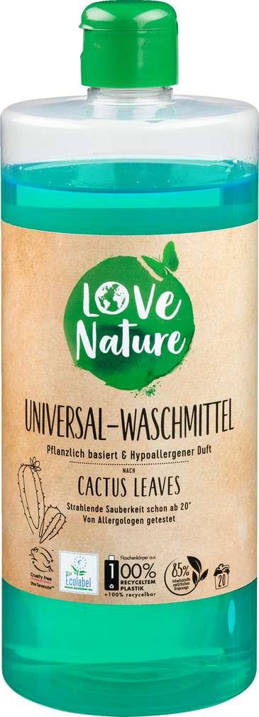 Abbildung des Sortimentsartikels Love Nature Vollwaschmittel Universal Cactus Leaves 20WL = 960ml