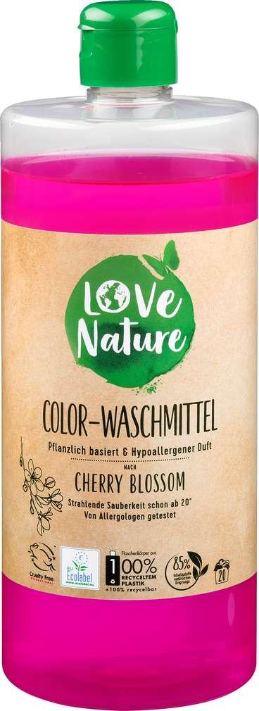 Abbildung des Sortimentsartikels Love Nature Colorwaschmittel Cherry Blossom 20WL = 960ml