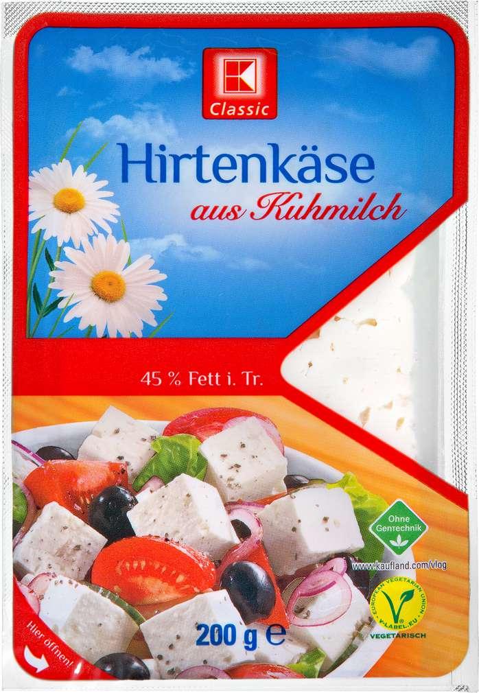 Abbildung des Sortimentsartikels K-Classic Hirtenkäse 45% Fett i.Tr. 200g