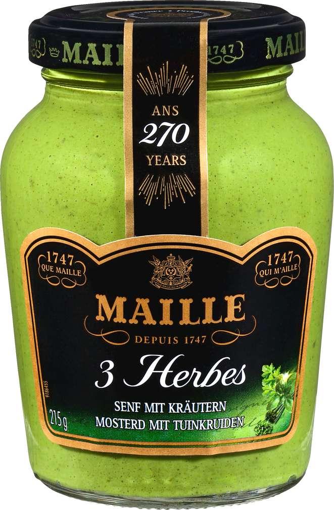 Abbildung des Sortimentsartikels Maille 3 Herbes Senf mit Kräutern 215g