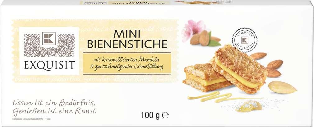 Abbildung des Sortimentsartikels Exquisit Mini Mandelgebäck mit Cremefüllung 100g