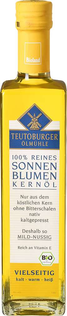 Abbildung des Sortimentsartikels Teutoburger Ölmühle 100 % Reines Sonnenblumenkernöl 500ml
