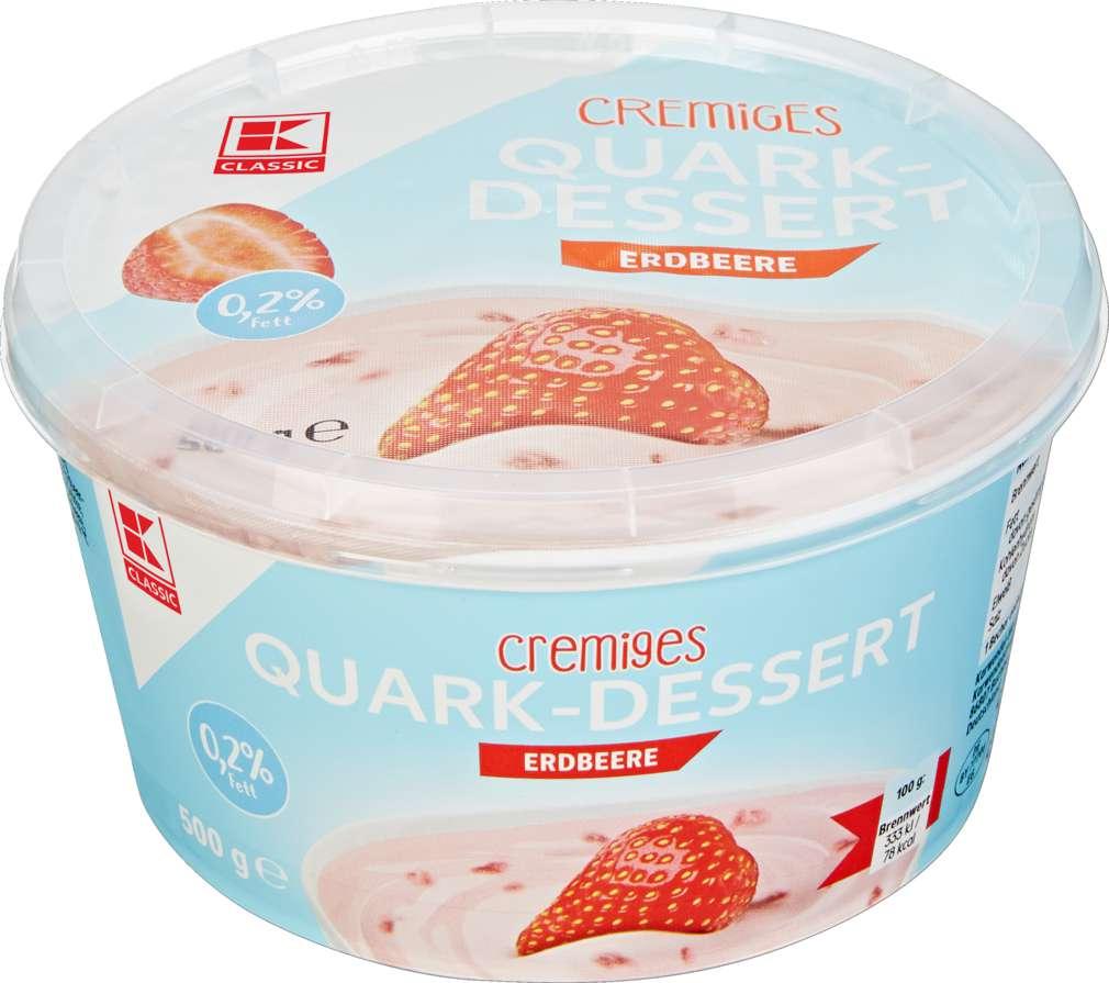 Abbildung des Sortimentsartikels K-Classic Quarkdessert Erdbeere 500g
