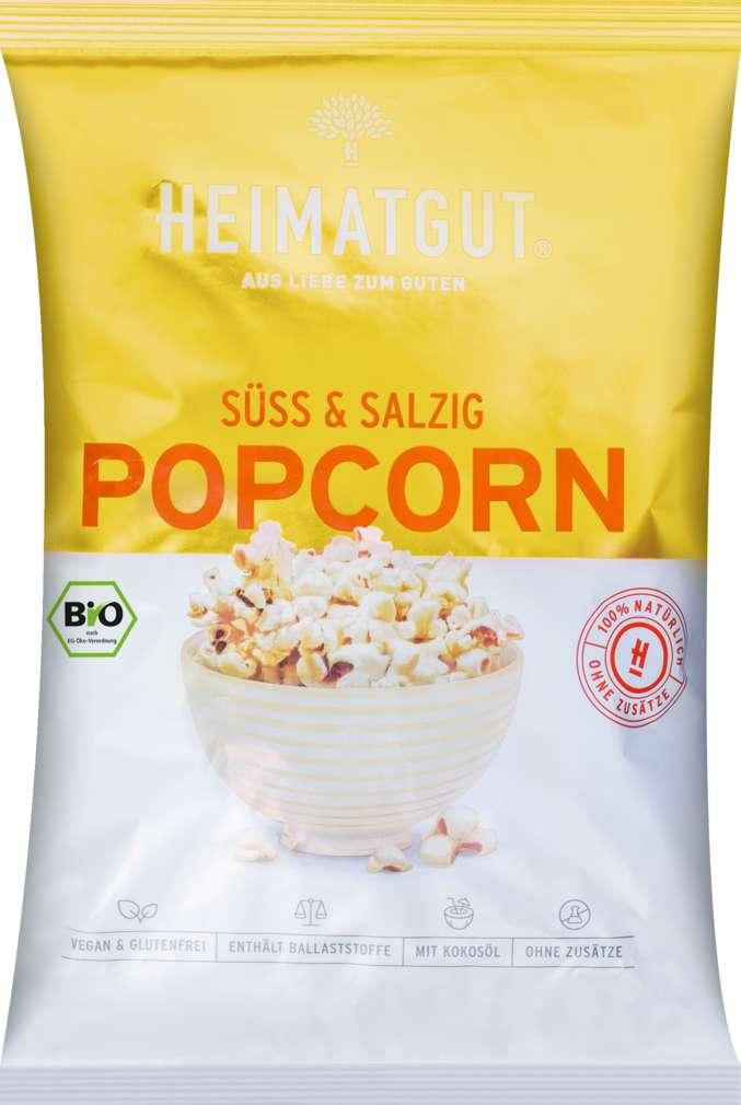 Abbildung des Sortimentsartikels Heimatgut Bio-Popcorn süß & salzig 90g