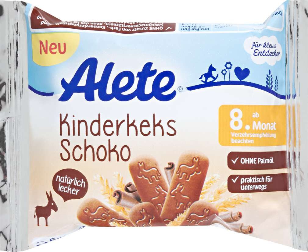 Abbildung des Sortimentsartikels Alete Kinderkeks Schoko 45g
