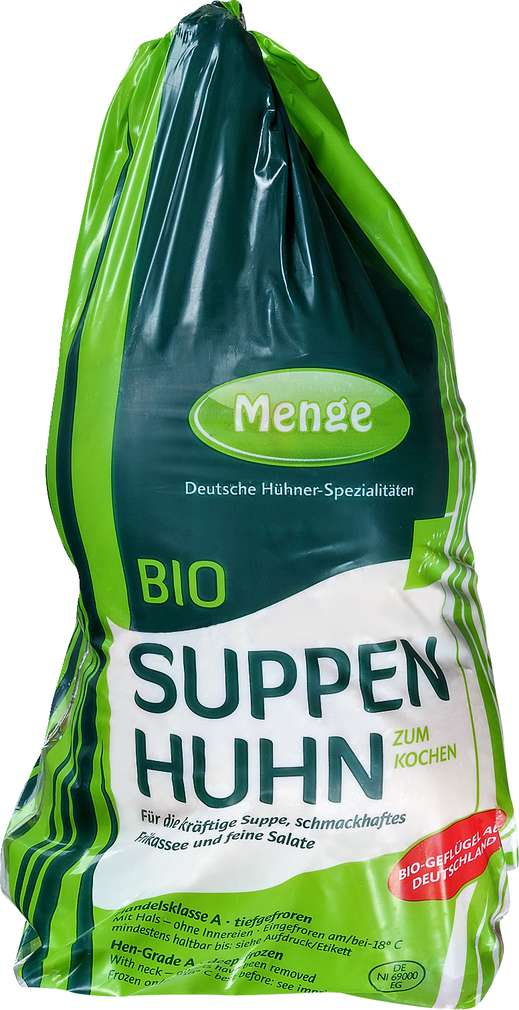 Abbildung des Sortimentsartikels Brefood Bio-Suppenhuhn
