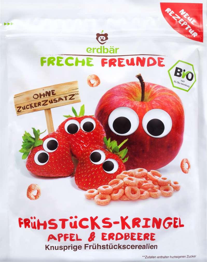 Abbildung des Sortimentsartikels Erdbär Freche Freunde Frühstücks-Kringel Apfel & Erdbeere 125g