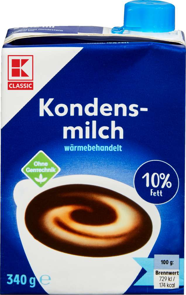 Abbildung des Sortimentsartikels K-Classic Kondensmilch 10% Fett 340g