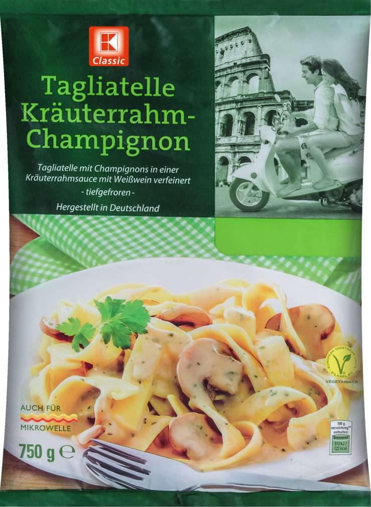 Abbildung des Sortimentsartikels K-Classic Tagliatelle Kräuter-Champignon 750g
