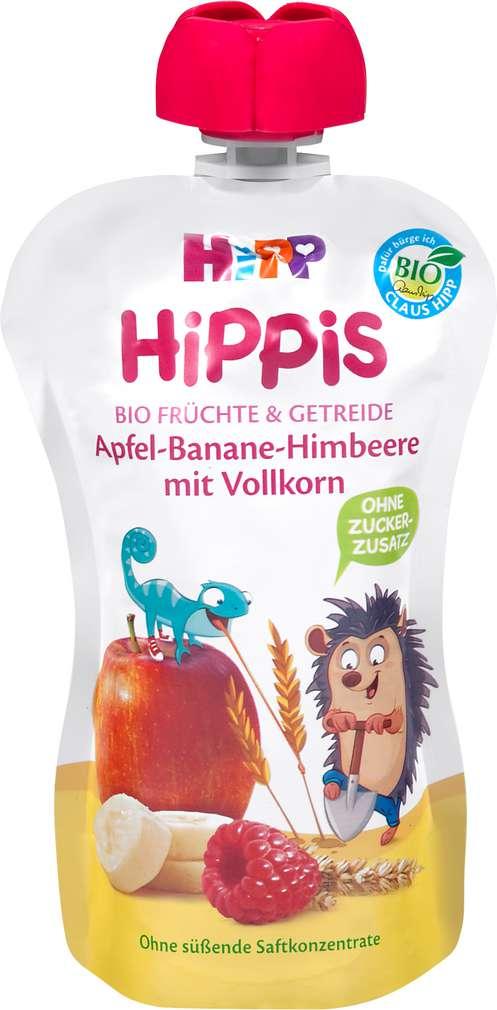 Abbildung des Sortimentsartikels Hippis Apfel-Banane-Himbeere mit Vollkorn 100g
