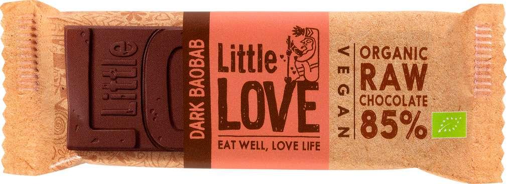 Abbildung des Sortimentsartikels Lovechock Little love Bio-Riegel Dark Baobab 25g