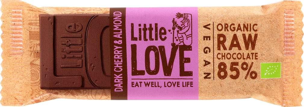 Abbildung des Sortimentsartikels Lovechock Little Love Bio-Riegel Dark Cherry & Almond 25g