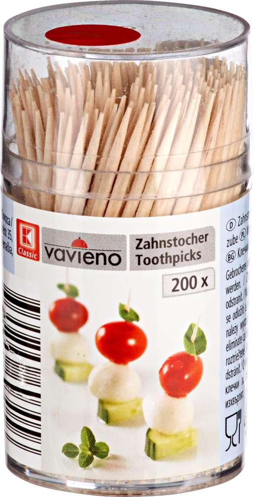 Abbildung des Sortimentsartikels K-Classic Zahnstocher 200 Stück