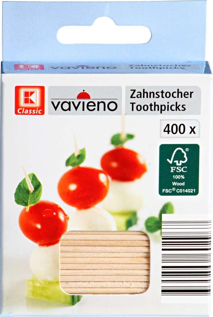 Abbildung des Sortimentsartikels K-Classic Zahnstocher 400 Stück