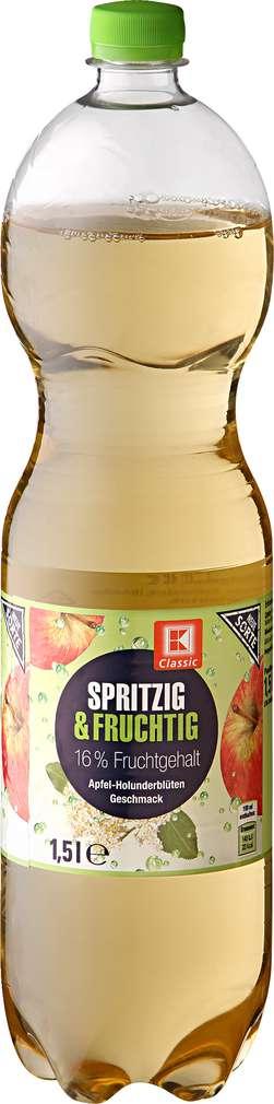 Abbildung des Sortimentsartikels K-Classic Spritzig & Fruchtig Apfel-Holunderblüte 1,5l