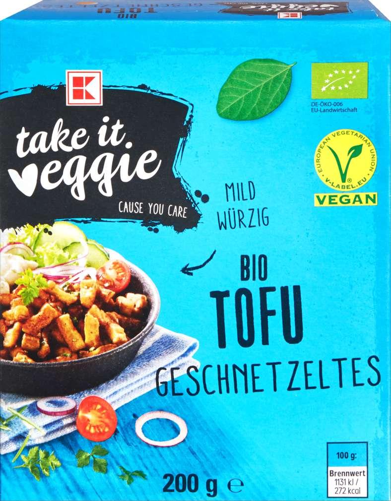Abbildung des Sortimentsartikels K-Take it Veggie Bio Tofu Geschnetzeltes 200g