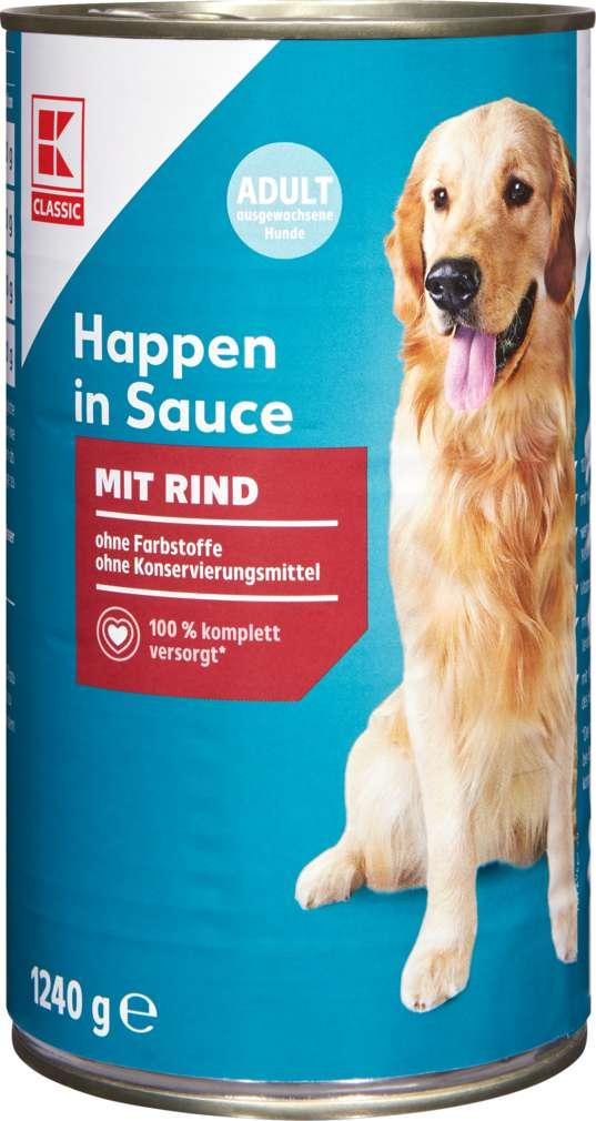 Abbildung des Sortimentsartikels K-Classic Hundenahrung Rind in Sauce 1240g