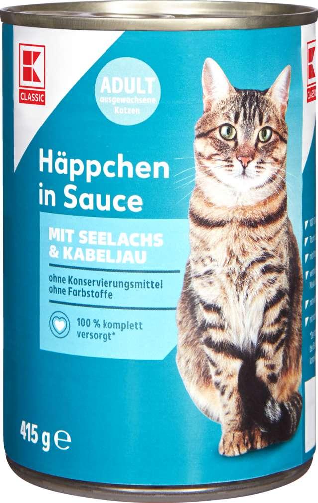 Abbildung des Sortimentsartikels K-Classic Katzennahrung Seelachs+Kabeljau 415g