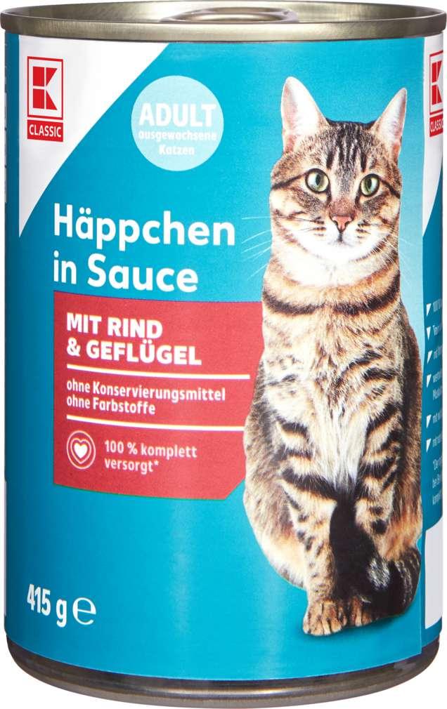 Abbildung des Sortimentsartikels K-Classic Katzennahrung Rind+Geflügel 415g