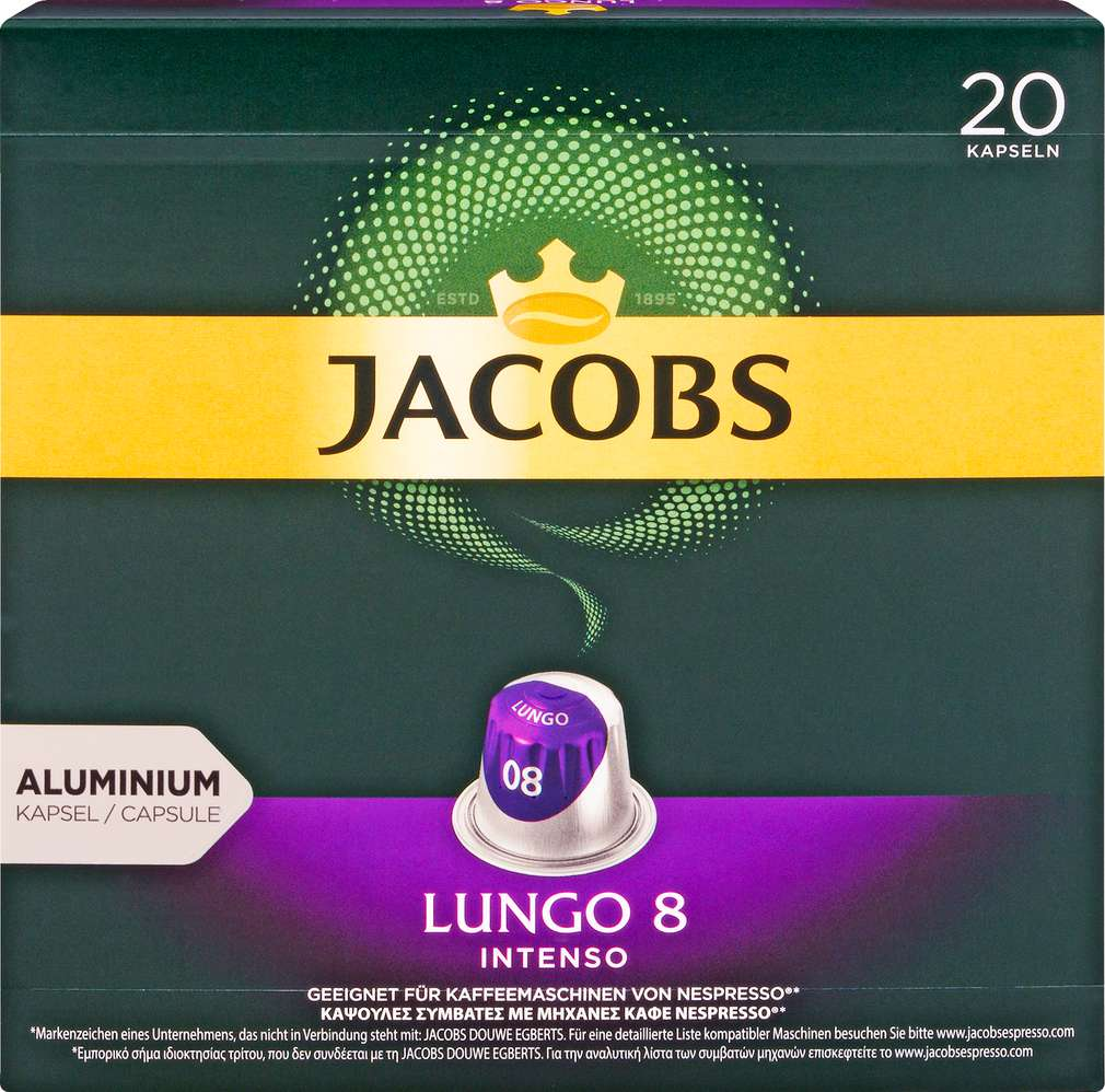 Abbildung des Sortimentsartikels Jacobs Lungo 8 Intenso 104g, 20 Kapseln